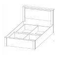 Кровать (Спальня Гамма 20) (180х200) схема
