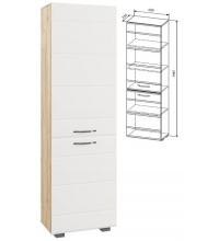 Шкаф АШК600.1 (Асти дуб бунратти/бел. гл. (ДСВ))