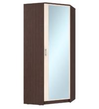 Шкаф угловой ШУ ЛДСП + Зеркало 320х1900 (Ваша)