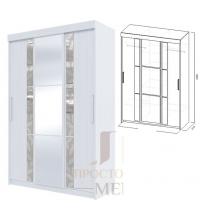 Шкаф-купе №21 (2м) стекл.+зер.+стекл. (SV)