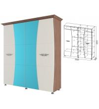 Шкаф 4ств. 2м.+багет (спальня Лагуна 7)