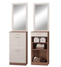 Зеркало+Тумба с двер. и ящ. (Прихожая Лестер)