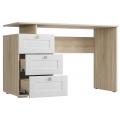 Письменный стол СП-07 Ривьера (Ваша) Дуб Сонома / Белый
