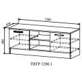 Тумба для телевизора ТВТР1200.1 Ронда (ДСВ) схема