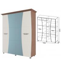 Шкаф 4ств.1,8м.+багет 2шт (спальня Лагуна 7)