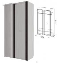 Шкаф угловой (прямой) (спальня Гамма 20)