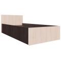 Кровать спальня ЭДМ 5 (90х200) венге/дуб млечный