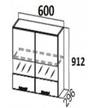 Шкаф Ш600с/912 со стеклом