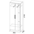 Шкаф 2 х. ств. для платья (спальня ЭДМ 2) схема