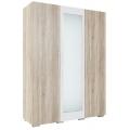 Шкаф 3х. ств. (спальня Лагуна 2) Дуб Сонома/Белый глянец