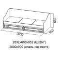Кровать ДМ-09 (90х200) (Детская Вега) схема