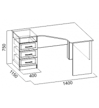 Стол компьютерный №10 (SV)