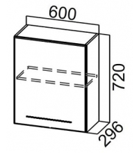 Шкаф Ш600(1ств)/720