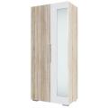 Шкаф 2х. ств. (спальня Лагуна 2) Дуб Сонома/Белый глянец