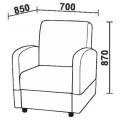Кресло Нео 2М (КР) схема
