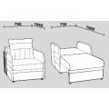 Кресло-кровать Нео 29 (Кр/Кр) схема