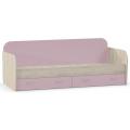 Кровать Ника 424 (80х200) (mobi) Бук Песочный/Лаванда