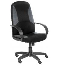 Кресло Амиго 783 ультра, ткань TW-11 черн./TW-12 сер.