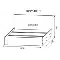 Кровать КР1400.1 Ронда (ДСВ) (140х200) схема
