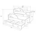 Кровать двухъярусная Радуга схема