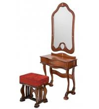 Туалетный столик с пуфиком Джульетта + зеркало, tualetnyj-stolik-s-pufikom-dzhuletta--zerkalo