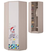 Шкаф для платья и белья угловой (Детская Джимми)