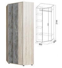 Шкаф угловой (Прихожая визит 1)
