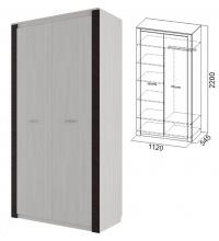 Шкаф комбинированный (спальня Гамма 20)