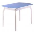 Стол ПГ-01 (Фигурные ноги)(СТ) серое, голубое, ноги массив фигурные серые