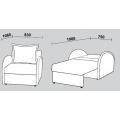 Кресло-кровать Нео 59 (Кр/Кр) схема