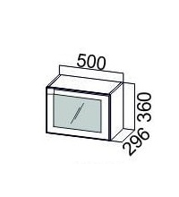 Шкаф ШГ500с/360 РМДФ Квадро, профиль МДФ (SV)