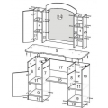 Туалетный столик КМ-18 (Феникс) схема