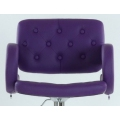 Полубарный стул BARNEO N-135 Gregor для столешниц 75-95см Фиолетовый