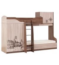 Кровать 2-х яр. (Детская город) (80х200)