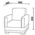 Кресло Нео 56 (КР) схема