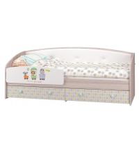 Кровать-софа с бортиком (Детская Цирк) (80х200)