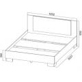 Кровать (Спальня Лагуна 2) (160х200) схема