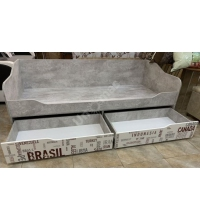 Кровать-диван с ящиками (Детская Грей) (90х200)
