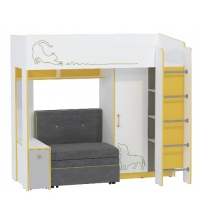 Кровать 11.20+Див. блок 11.20 Альфа (mobi) (80х190)