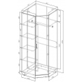 Шкаф угловой МД5З схема
