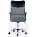 Кресло Barneo K-133 серый сзади