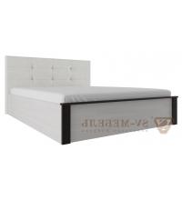 Кровать с мягк. изголовьем (Спальня Гамма 20) (180х200)