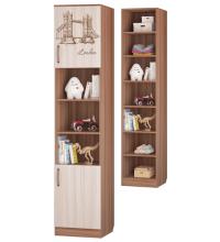 Шкаф для книг с 2-мя дверками (Детская Вояж)