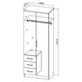 Шкаф ШКР800.3 (Ронда) схема