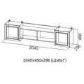 Полка навесная 2040 мм ДМ-10 (Детская Вега) схема