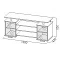 Тумба для телевизора №102 (SV) схема