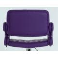 Полубарный стул BARNEO N-135 Gregor для столешниц 75-95см Фиолетовый сзади