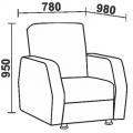 Кресло Нео 25М (КР) схема