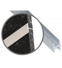 Планка щелевая Н для стеновой панели (6 мм) (SV)