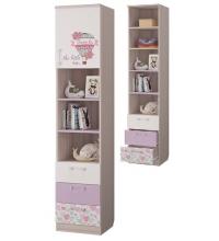 Шкаф для книг с 3-мя ящ. и дв. (детская Адель)